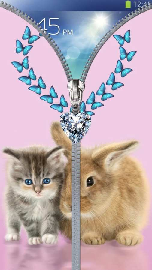 猫锁屏。拉链。截图4