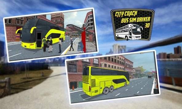 City Coach Bus Sim Driver 3D截图1