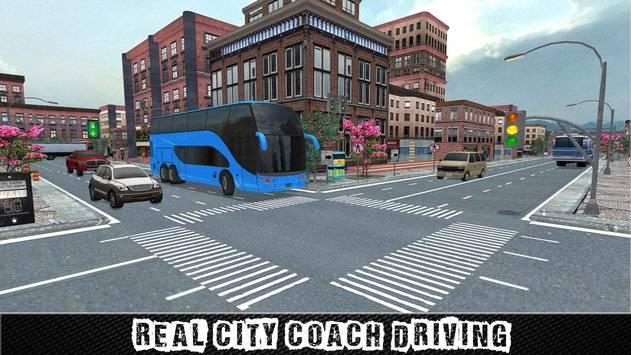 City Coach Bus Sim Driver 3D截图10