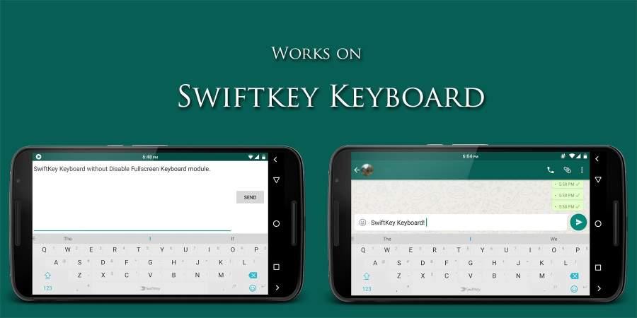 禁用全屏键盘:Disable