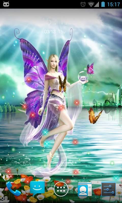 梦幻蝴蝶动态壁纸锁屏截图2
