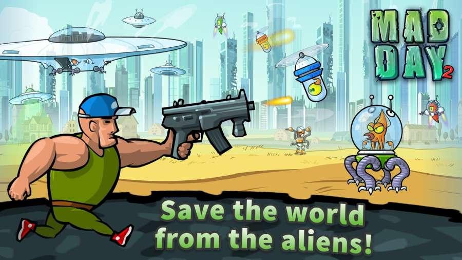 疯狂的一天2:外星人消灭战截图0