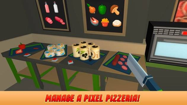 Pixel Pizzeria Cooking Chef截图0