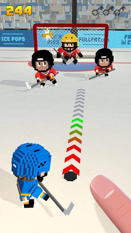 方块冰球:冰上跑酷截图1