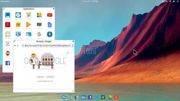 Leena Desktop UI截图1
