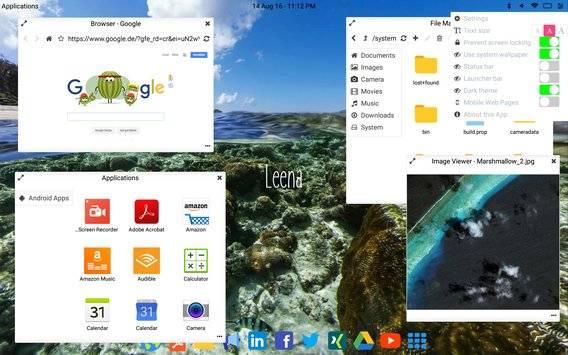 Leena Desktop UI截图2