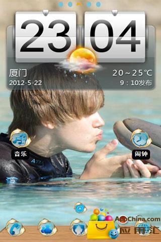 【宝软主题】贾斯汀比伯与海豚截图1