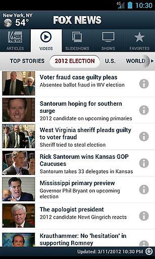 福克斯新闻截图1