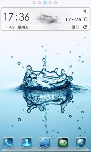 水滴迸发的一瞬间