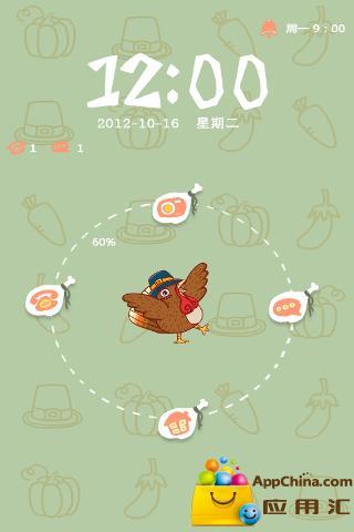 GO锁屏主题-小鸡下蛋
