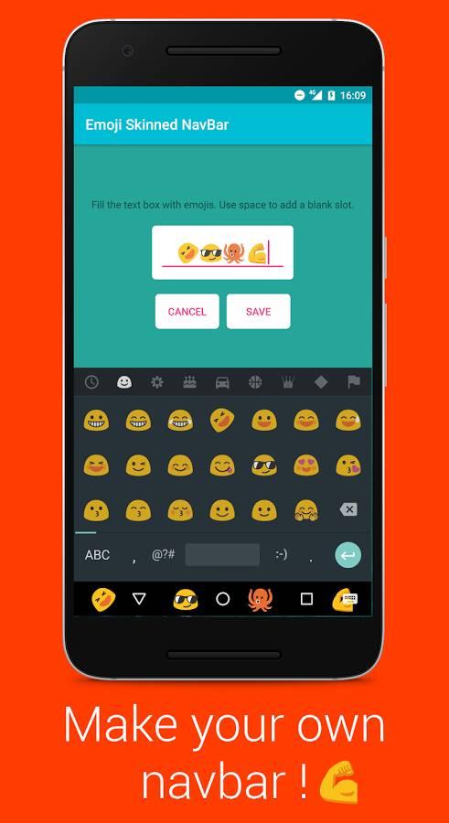 Emoji彩色导航栏