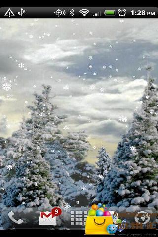 飘雪动态壁纸截图0
