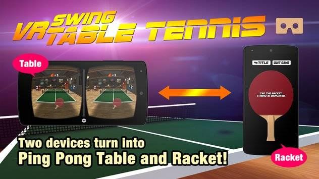 VR Swing Table Tennis Cardbd截图0