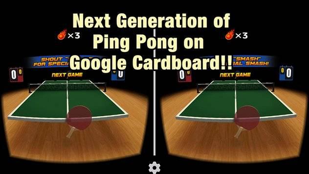 VR Swing Table Tennis Cardbd截图1