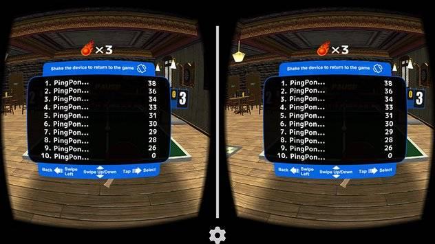 VR Swing Table Tennis Cardbd截图5