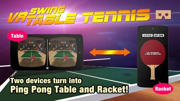 VR Swing Table Tennis Cardbd截图7