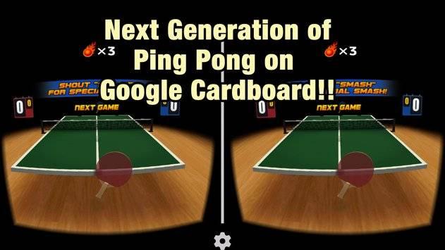 VR Swing Table Tennis Cardbd截图8