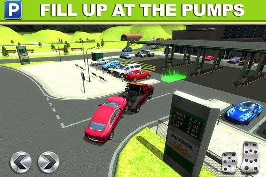 Gas Station Car Parking Game截图1