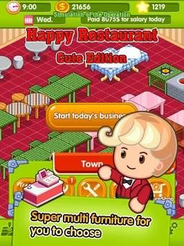 Happy Restaurant cute edition截图10