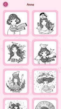Girls Coloring Book截图7