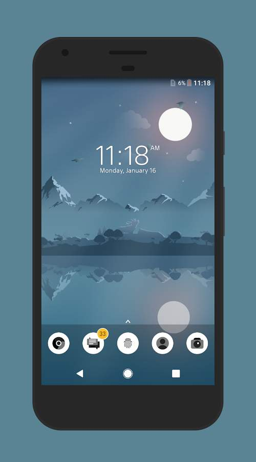 Material Night Theme - Xperia主题截图0