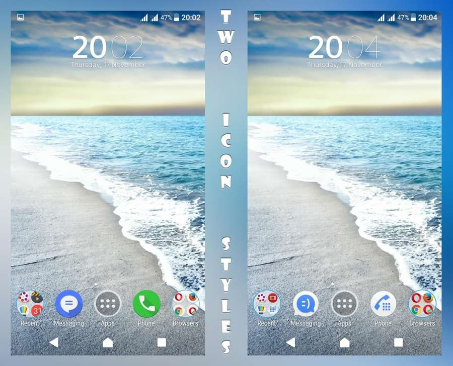 Cool Waves Theme - Xperia主题截图0