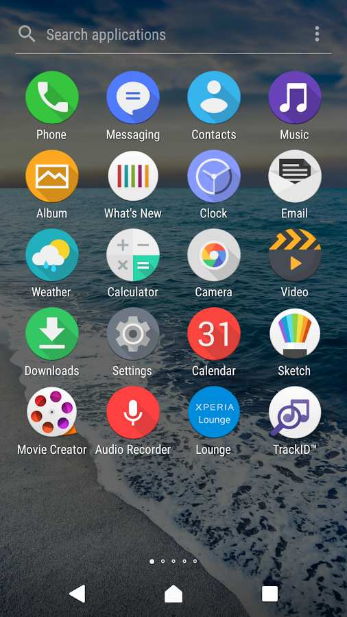 Cool Waves Theme - Xperia主题截图1