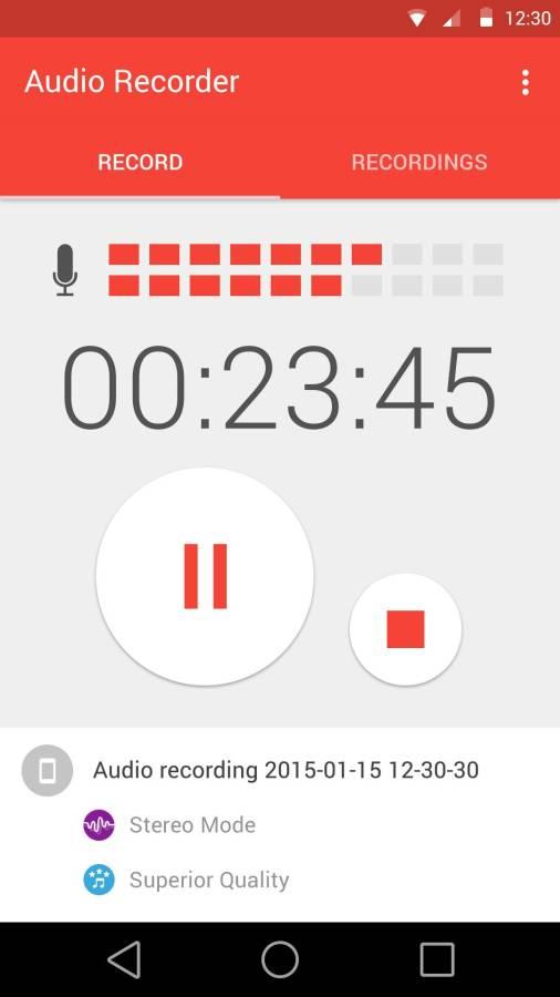 手机音频录制截图1