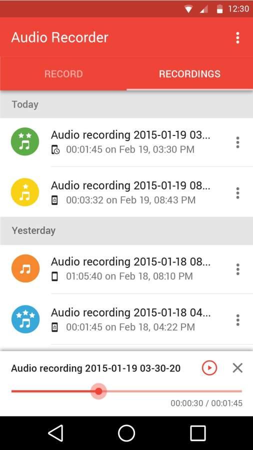 手机音频录制截图4