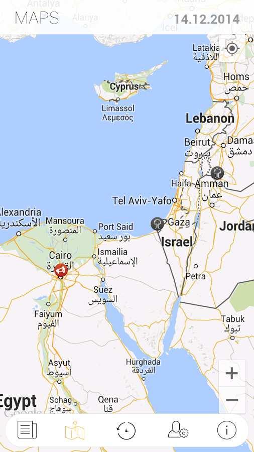 世界冲突地图:Liveuamap截图1