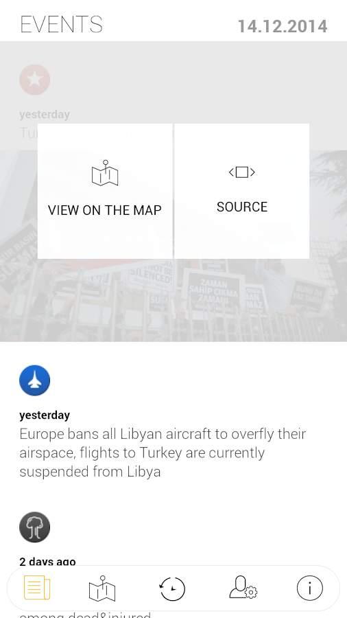 世界冲突地图:Liveuamap截图2