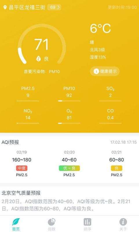 空气质量发布截图0