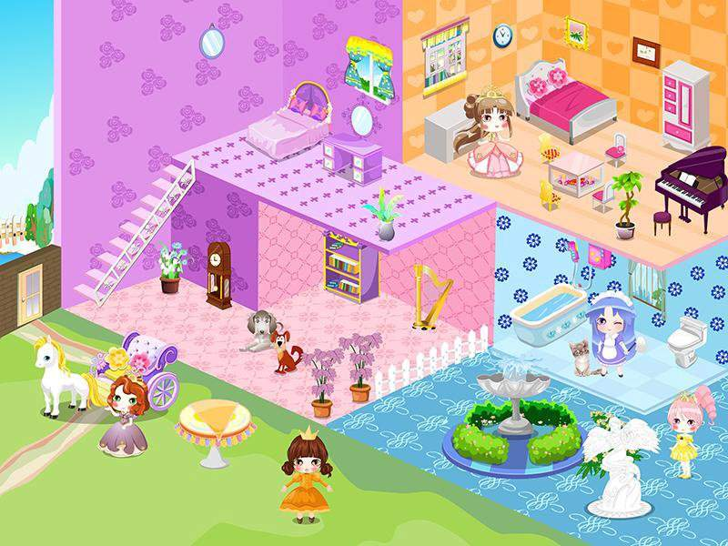 可爱公主娃娃屋设计截图1
