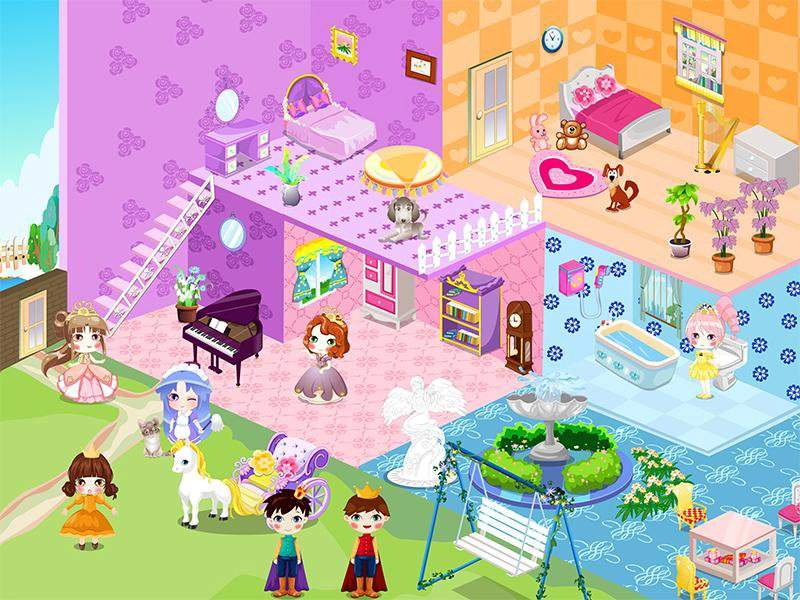 可爱公主娃娃屋设计截图3