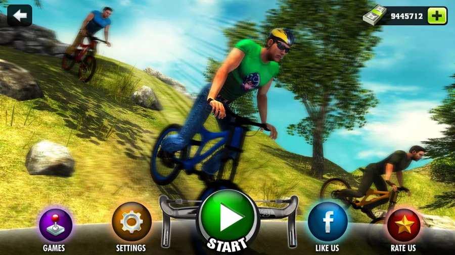 上山越野自行车车手