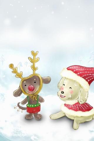 雪中小猴子可爱图片