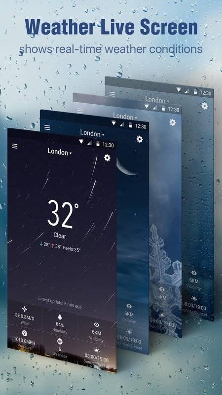 天氣預報桌面小工具,惡劣天氣警示,詳盡天氣資訊截图3