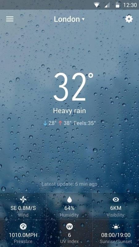 天氣預報桌面小工具,惡劣天氣警示,詳盡天氣資訊截图4