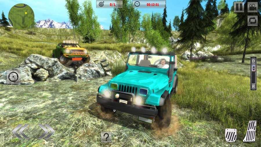 Offroad Jeep Driving Sim 2017截图0