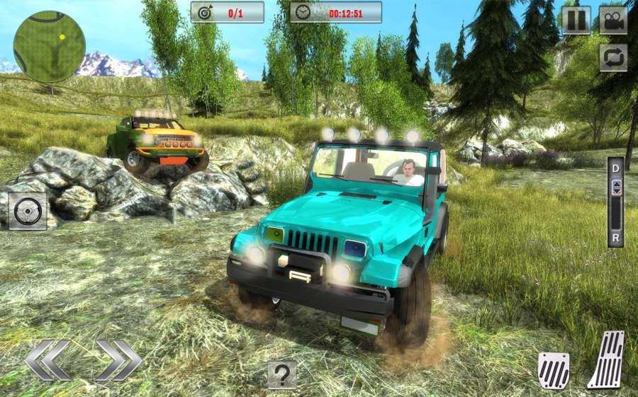 Offroad Jeep Driving Sim 2017截图1