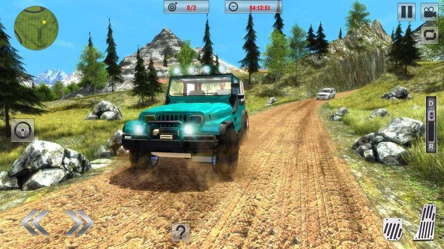 Offroad Jeep Driving Sim 2017截图2