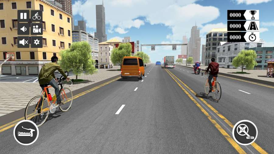 自行车赛车和四人特技