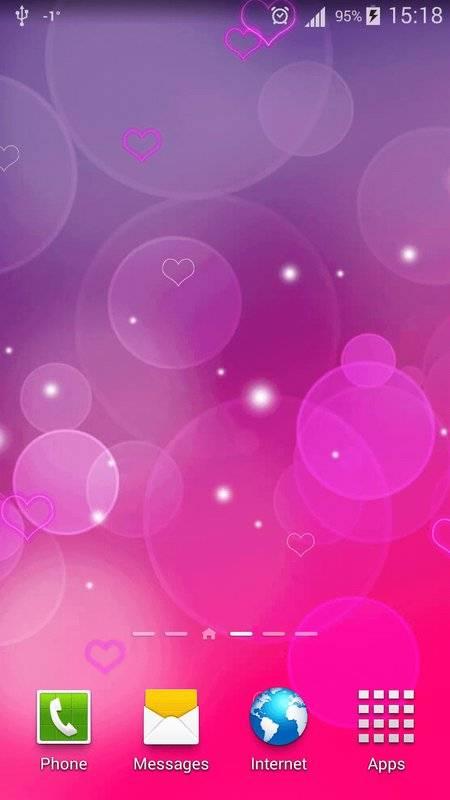 粉红色心中 动态壁纸截图0