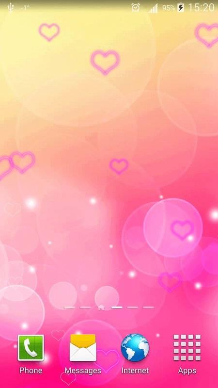 粉红色心中 动态壁纸截图1