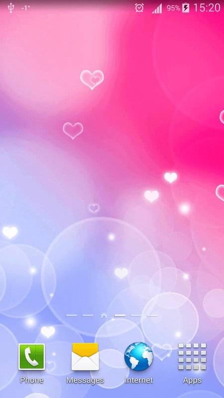 粉红色心中 动态壁纸截图2