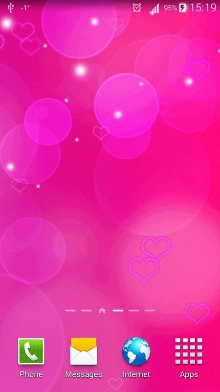 粉红色心中 动态壁纸截图4