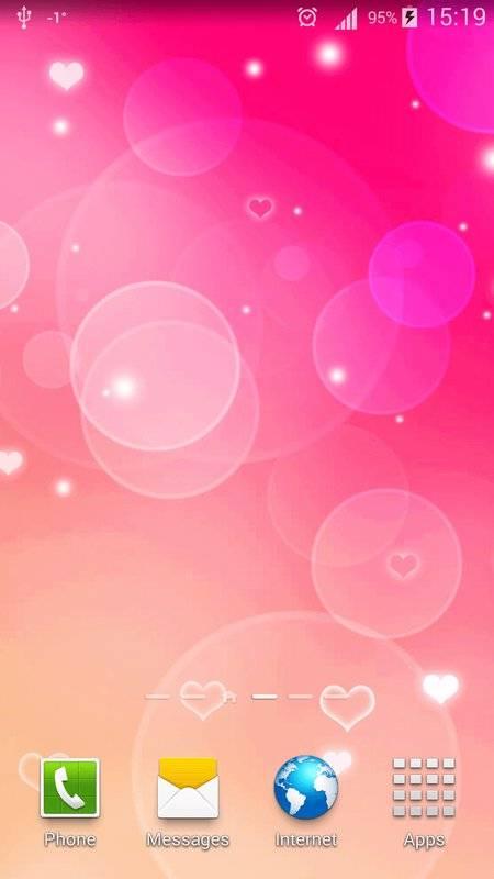 粉红色心中 动态壁纸截图6