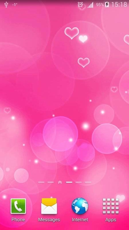 粉红色心中 动态壁纸截图7
