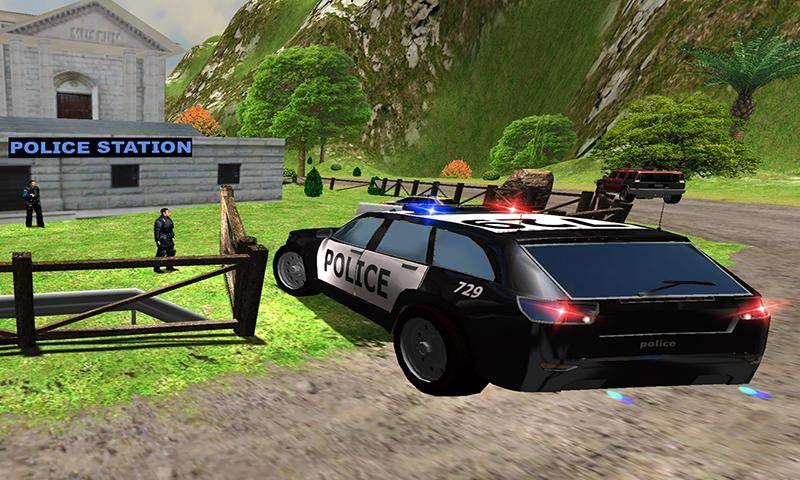 山警察对匪徒追逐截图1