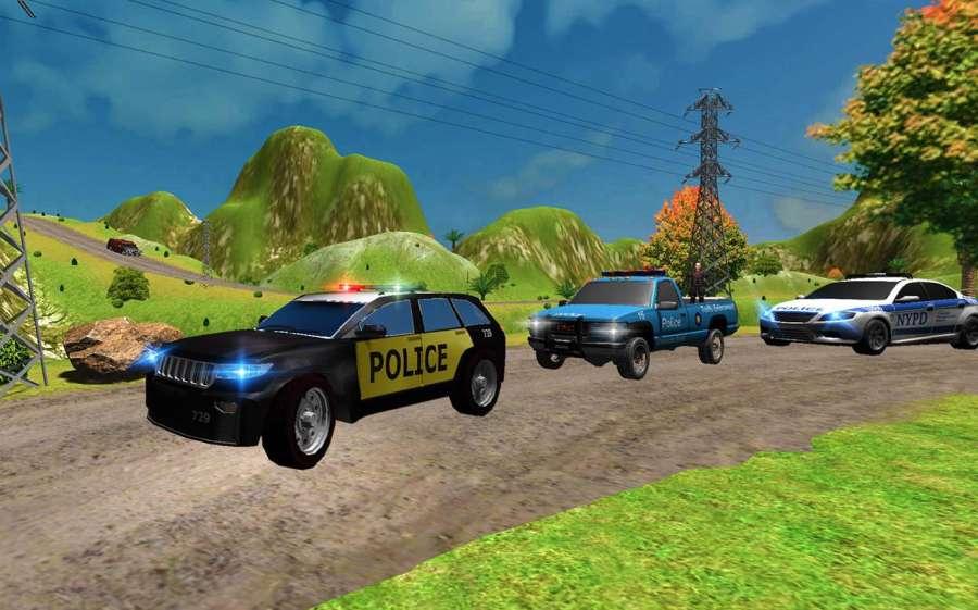 山警察对匪徒追逐截图6